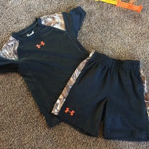 Two piece under armour dri-fit